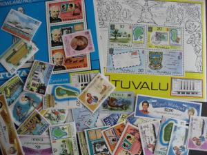 TUVALU 32 different virtually all MNH, check them out! PLZ read description