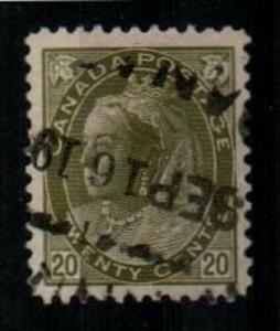 Canada Scott 84 Used VF (Catalog Value $100.00) [TC1346]