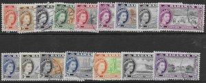 Bahamas   158-73   1954     set  16   FVF Used
