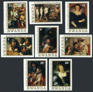 Rwanda 819-826 imperf,MNH.Mi 883-890. Peter Paul Rubens,400th birth Ann.1977.