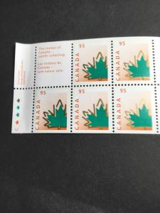 Canada #1686a Mint Stamps VF-NH USC C$11.1998 95c Stylized Maple Leaf Pane of 5