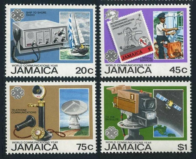 Jamaica 563-566,MNH.Michel 571-574. World Communication Year WCY-1983.Satellite,