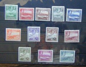 Antigua 1938 -49 set to £1 MM SG98 - SG109 (2d slight rust)
