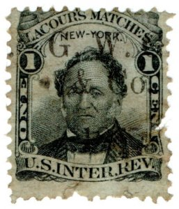 (I.B) US Revenue : Match Tax 1c (Lacour's Matches) GW & Co overprint