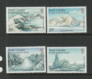 South Georgia 1989 Glaciers UM/MNH SG 187/90
