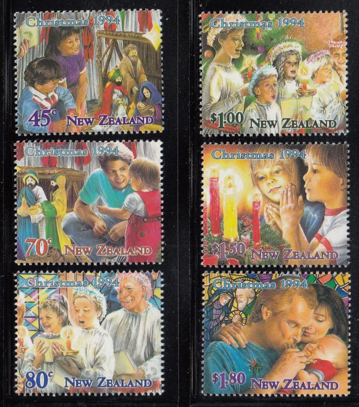 New Zealand 1994 MNH #1237-#1242 Christmas Family scenes