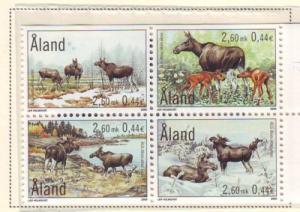 Aland Sc 162-5 2000 Elk stamp set mint NH