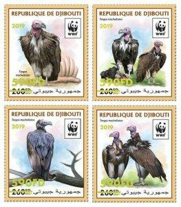 Z08 DJB190519a1 DJIBOUTI 2019 WWF Vulture MNH ** Postfrisch