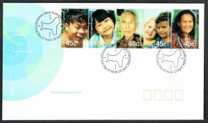 Christmas Is. New Millennium Faces of Christmas Island 5v strip FDC SG#479-483