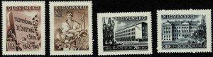 1943 Slovakia Semi-Postal Scott Catalog Number B17-B20 Unused Never Hinged