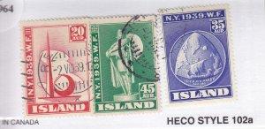 Iceland: Sc #213-215, Short Set, Used (S18964)