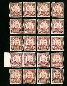 US Stamps # 693 F-VF OG NH Lot of 20 Catalog Value $160.00
