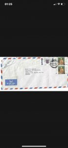 Thailand postal cover-stamps good env poor.