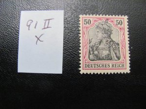 GERMANY 1915 MNH MINR. 91llx GERMANIA