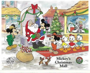 1988   DOMINICA  -  SG.  MS  1199a  -  MICKEY'S  CHRISTMAS  MALL  -  USED