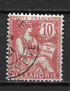 France Offices in Egypt - Alexandria 21 10c single Used