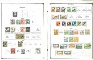 Hungary 1874-1967 M, U & CTO (mostly) Hinged on Scott International Pages.