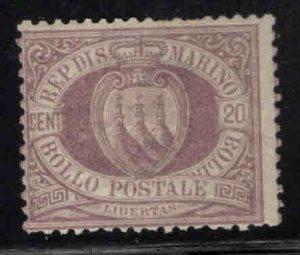 San Marino Scott 12 MH* 1895 stamp