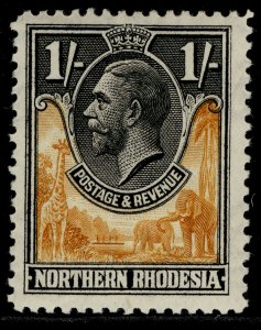 NORTHERN RHODESIA GV SG10, 1s yellow-brown & black, M MINT.