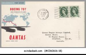 GREAT BRITAIN / AUSTRALIA - 1959 QANTAS BOEING 707 LONDON to SYDNEY - FFC