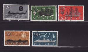 Norway 382-386 Set U Ships (E)