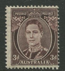 Australia - Scott 183A -  KGVI - 1942 - MNH - Single 3p stamp