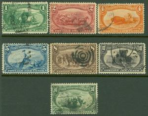 EDW1949SELL : USA 1898 Scott #285-91 Used. Fresh. Light cancels. Catalog $317.00