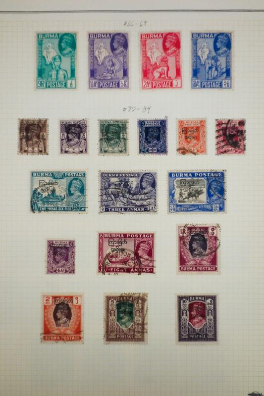 Burma Tough to Find Stamp Collection