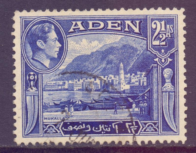 Aden Scott 21 - SG21, 1939 George VI 2.1/2a used