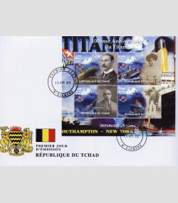 Chad 2012 The Titanic Anniversary Sheet Perforated FDC