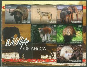 LIBERIA   2015 WILDLIFE OF AFRICA  SHEET   MINT NH