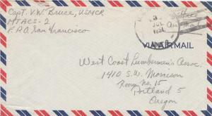 United States Korean War Soldier's Free Mail 1951 U.S. Navy Marine Tactical A...