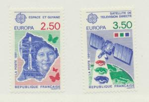 France Scott #2254 To 2255, Europa Issue From 1991, Collectible Postage Stamp...