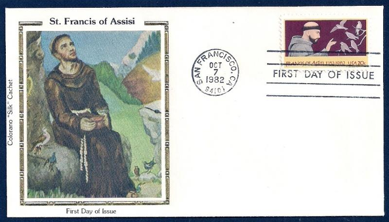 UNITED STATES FDC 20¢ St Francis of Assisi 1982 Colorano