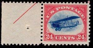 US Stamp #C3 24c Jenny Arrow Imprint Tab MINT NH SCV $130