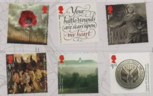 Great Britain Sc 3507-12 2016 Post Office at War stamp set mint NH