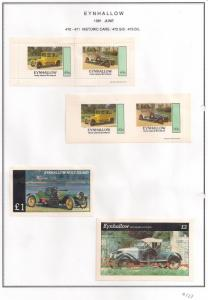 SCOTLAND - EYNHALLOW - 1981 - Historic Cars - Perf Imp 2v, Souv, D/L Sheets MLH