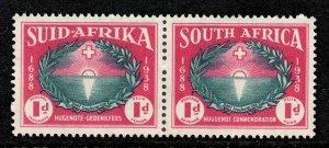 South Africa 1939 Huguenot Landing 1d+1d SG 83 mint