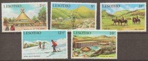 LESOTHO SG186/90 1970 TOURISM MNH