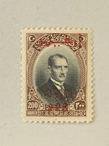 Turkey gem MNH 200pia 1928 Izmir Fair! Scott 672, CV $529 pro rata.  Isfila 1201