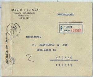 77542 - GREECE  - Postal History -  COVER  to  ITALY  1940 ---  CENSURE TAPE