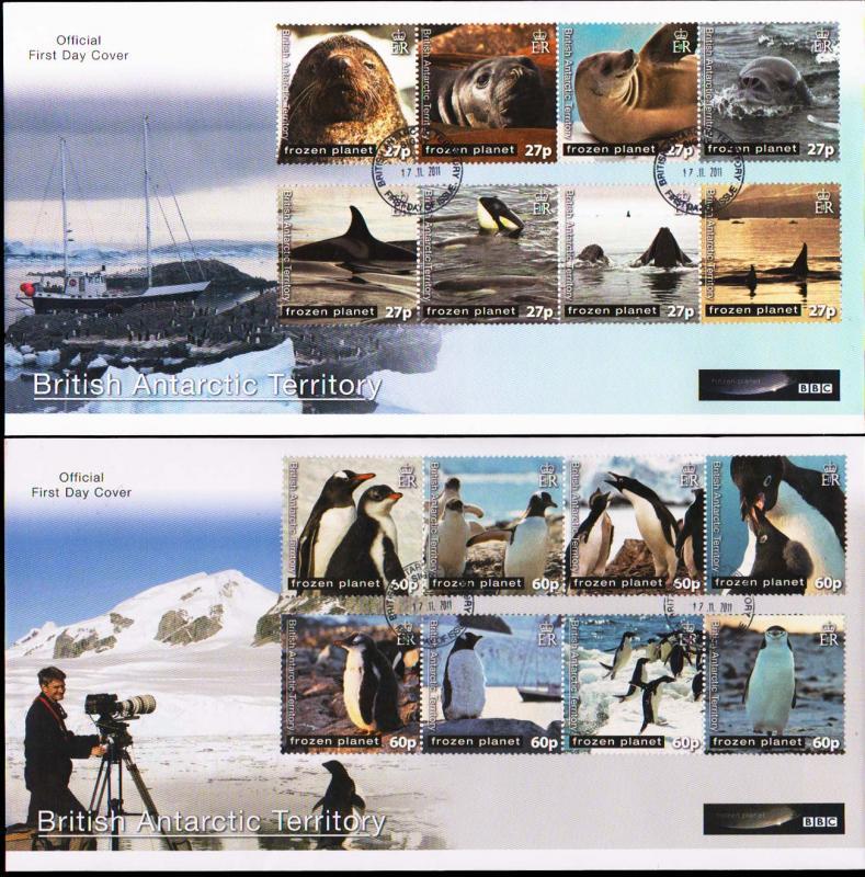 British Antarctic Territory Scott 428-429 Unaddressed.