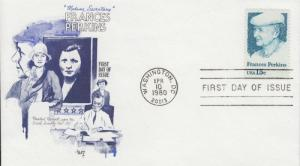 1980 Frances Perkins Sec of Labor (Scott 1821) Marg FDC