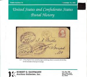 Kaufmann: Sale # 75  -  United States and Confederate Sta...