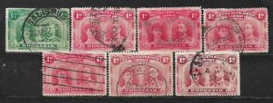 COLLECTION LOT OF 7 BRITISH SOUTH AFRICA COMPANY 1910 STAMPS CLEARANCE CV+ $29