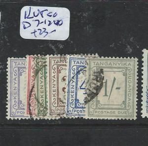 KENYA UGANDA TANGANYIA (P0606BB) POSTGE DUE SGD7-12   VFU