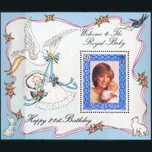 ISLE OF MAN 1982 - Scott# 223 S/S Royal Baby NH