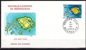 New Caledonia, Scott cat. 452. Pine Tree Is. Turtle. First day cover. ^