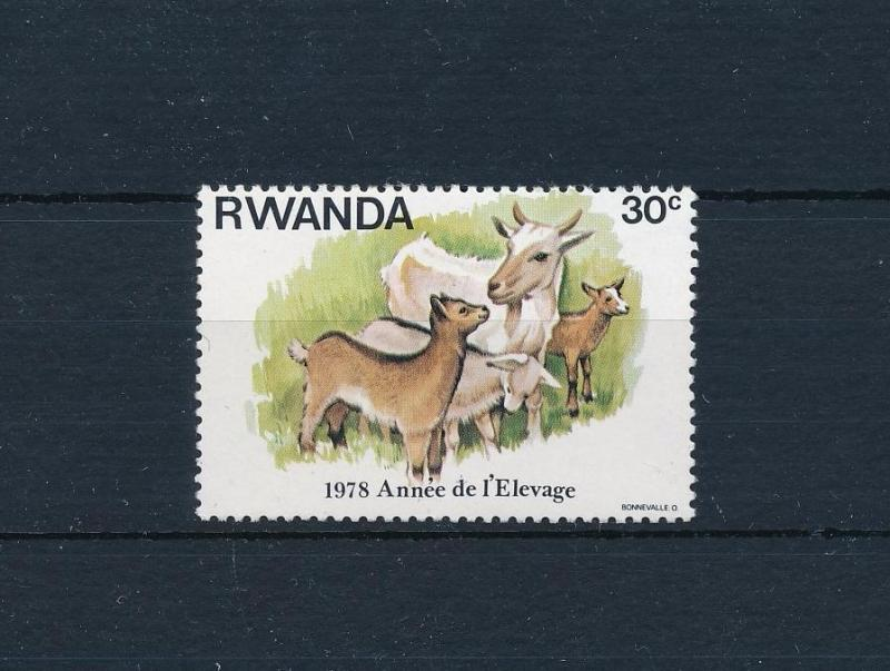 [53200] Rwanda 1978 Animals Goats from set MNH