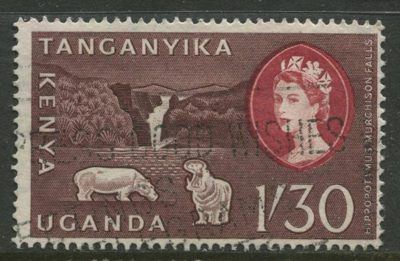 Kenya & Uganda - Scott 130 - QEII Definitive -1960 - Used - Single $1.30 Stamp
